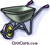 Vector Clipart image  of a Wheelbarrow