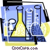 Vector Clipart graphic  of a beakers