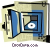 vault, safe Vector Clipart illustration