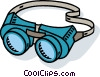 welders goggles Vector Clipart illustration