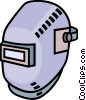 Vector Clip Art image  of a welders mask