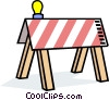 Construction Barricade Vector Clipart illustration
