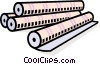 Vector Clipart illustration  of a paper rolls