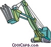 Steam shovel Vector Clip Art image