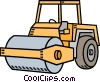 Steam roller Vector Clipart illustration