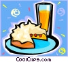 Vector Clipart picture  of a orange juice