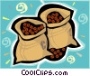Vector Clipart illustration  of a coffee beans