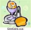 hard boiled egg Vector Clip Art graphic