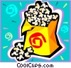 Vector Clipart image  of a Bag of popcorn