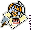 world globe Vector Clipart illustration
