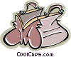 Vector Clip Art image  of a purse