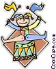 Vector Clipart illustration  of a Court Jester