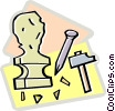 Vector Clipart graphic  of a sculpture