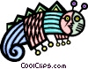 stylized caterpillar Vector Clip Art picture