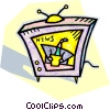 television news broadcast Vector Clipart picture