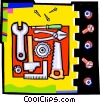 Vector Clip Art image  of a wrenches and tools