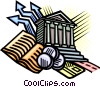 banking symbols Vector Clipart graphic