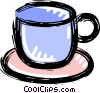 Vector Clipart graphic  of a cup of coffee