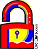 Vector Clipart illustration  of a lock