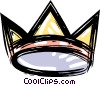 king's crown Vector Clipart graphic