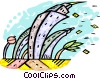 strong winds causing havoc Vector Clip Art image