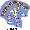 Vector Clipart graphic  of a rainbows