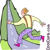 Vector Clip Art image  of a uphill run