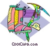 mountain climbing Vector Clip Art picture