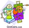 Vector Clipart picture  of a blender