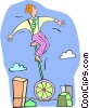 Vector Clip Art graphic  of a tightrope walker