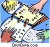 Vector Clip Art picture  of a books