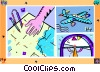 Vector Clip Art graphic  of an airplane