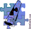 Vector Clip Art graphic  of a saw