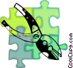 Vector Clipart graphic  of a pliers