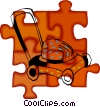 Vector Clipart picture  of a lawn mower