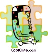 Vector Clip Art picture  of a clamp