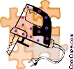 Vector Clipart picture  of a jigsaw