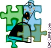 Vector Clip Art image  of a paint scraper