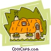 Vector Clip Art image  of a English cottage