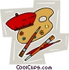 Vector Clipart illustration  of an artist's palette