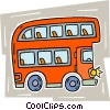 double-decker bus Vector Clip Art graphic