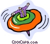Vector Clipart picture  of a spinning top
