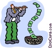 Vector Clipart picture  of a snake charmer