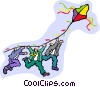 Vector Clip Art graphic  of a kite