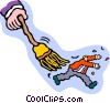 brush off, swept away Vector Clip Art image