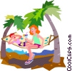hammock Vector Clipart picture