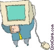 Vector Clipart illustration  of a computers