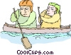 Vector Clipart graphic  of a canoe