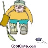 Vector Clip Art graphic  of a goalie
