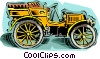 Vector Clip Art image  of an antique car